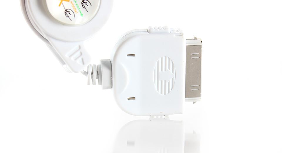 بررس کابل USB به 30-پين ريمکس مناسب براي آيفون 4/4s به طول 1 متر