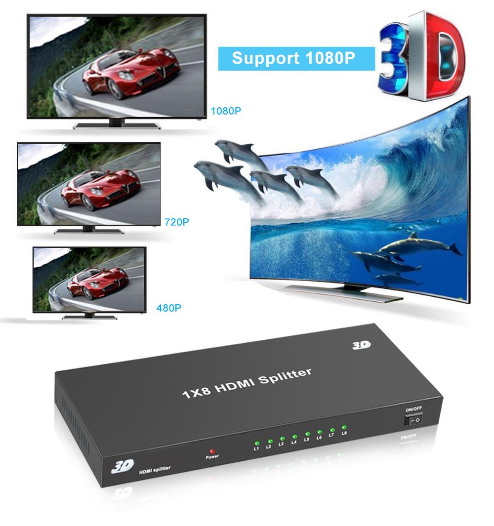 اسپلیتر 1 به 8 HDMI لمونتک مدل HD-108