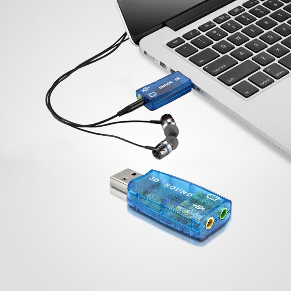 کارت صدا اکسترنال MINI SOUND CARD USB