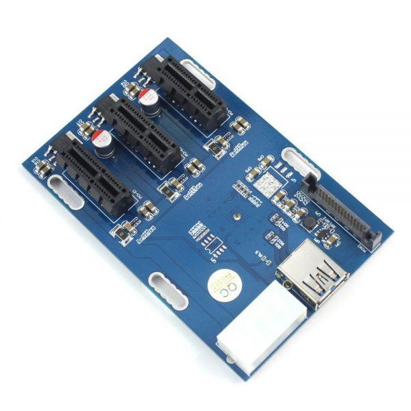 کارت تبدیل 1 پورت PCIe 1x به 4 پورت PCIe 1x