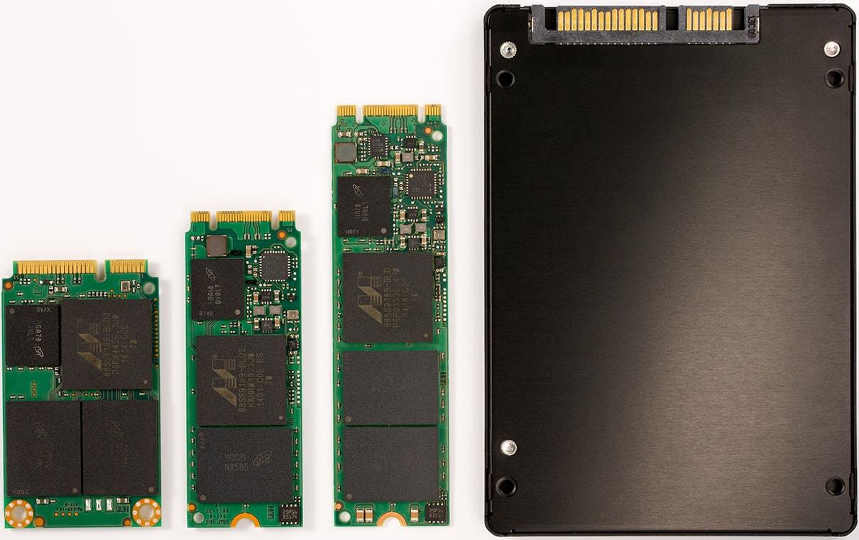 انواع حافظه های SSD