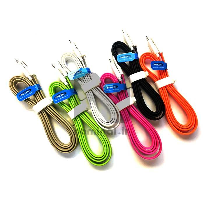 کابل شارژ اندروید رنگی