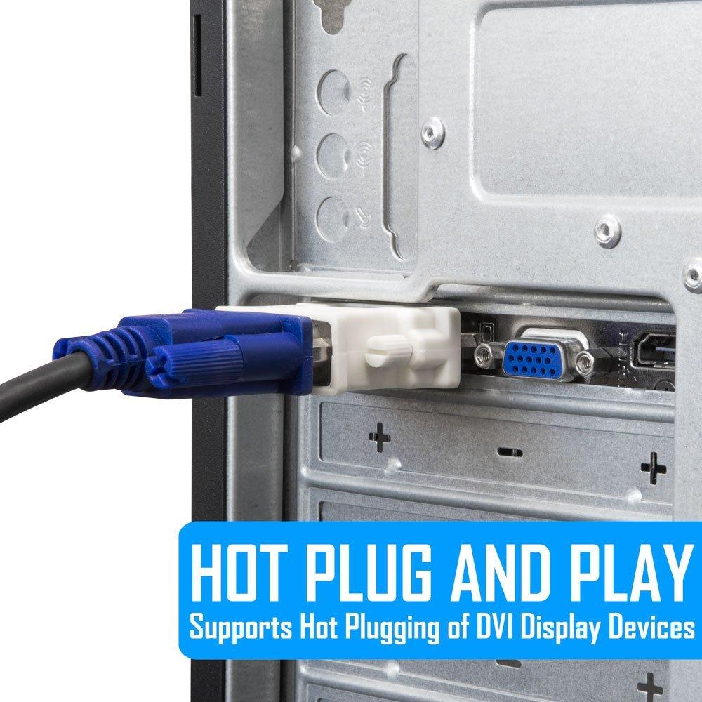 تبدیل DVI به VGA ساده (DVI-D 24+1)
