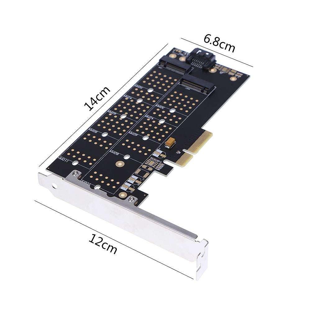کارت تبدیل PCI-E به M.2 از نوع M و B (دو پورت)