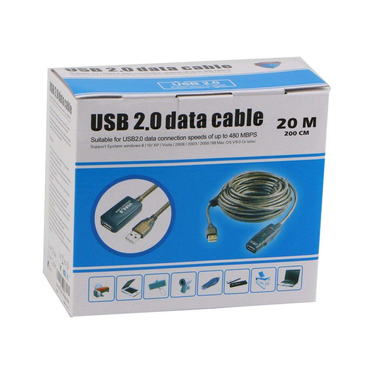 افزایش USB 20 متری بافر دار