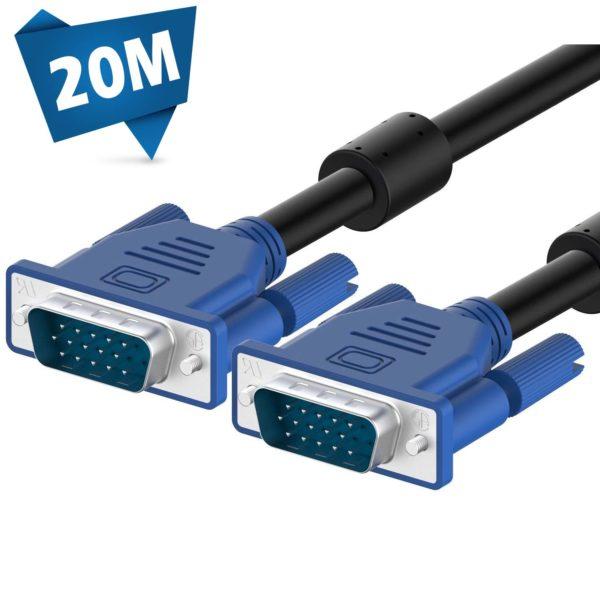 کابل 20 متری VGA مانیتور برند لمونتک (VGA 3+6 20M)