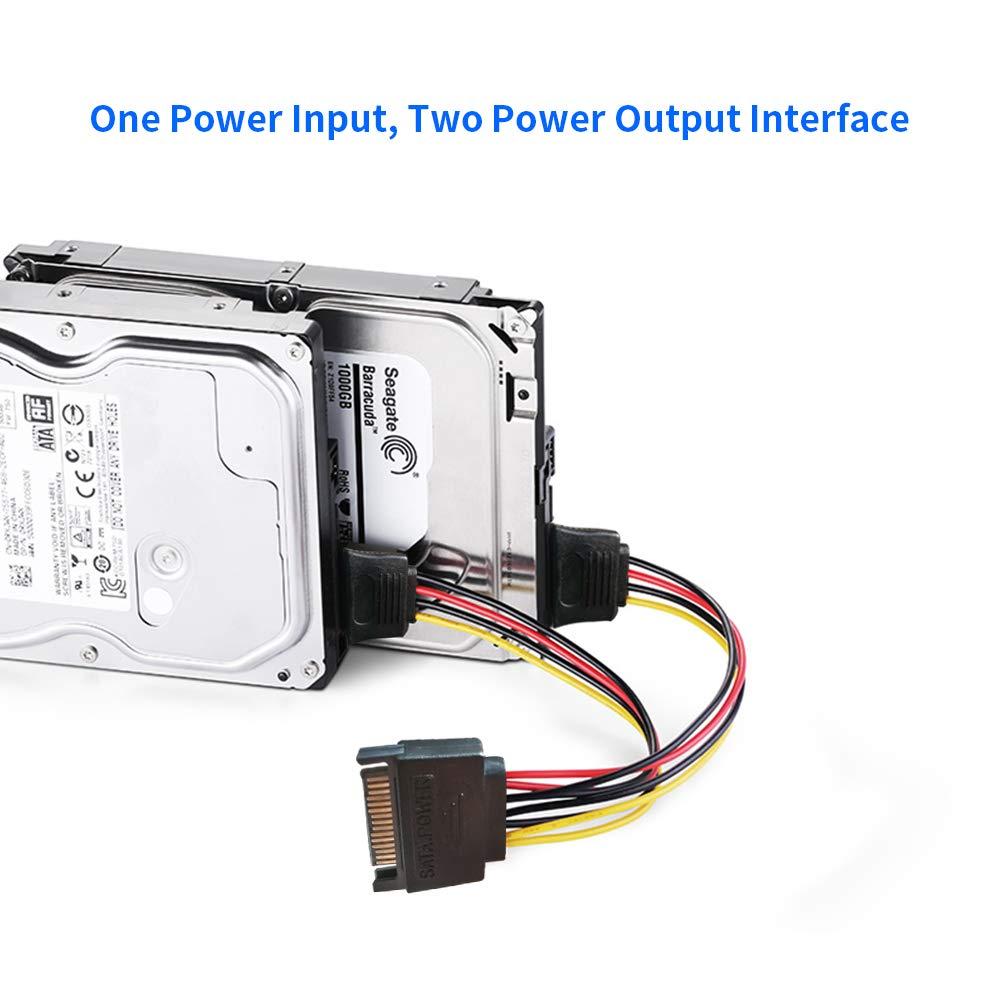 تبدیل برق 1 به 2 ساتا (SATA POWER)