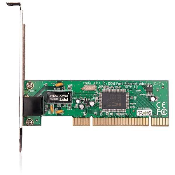 • اتصال از طریق اسلات PCI • پشتیبانی از پروتکل کنترل جریان IEEE 802.3x کاربرد: • اتصال به شبکه کابلی یا مودم ADSL با پورت شبکه • برقراری ارتباط بین دو کامپیوتر مجهز به کارت شبکه