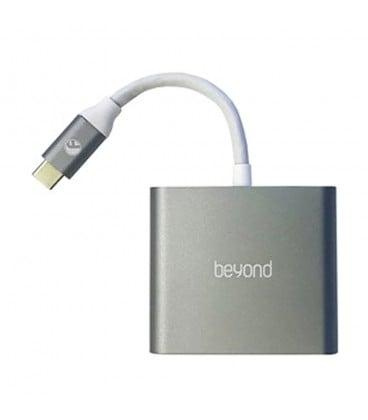 هاب 3 پورت Type C به 3.0 USB بیاند BA-410