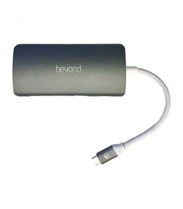 هاب 4 پورت Type C به USB همراه پورت LAN و درگاه کارت حافظه بیاند BA-495