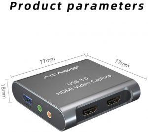 کارت کپچر اکسترنال HDMI 4K آکاسیس USB 3.0