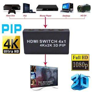 سوئیچ HDMI یک به چهار 4k (4 پورت) رزولیشن 3D