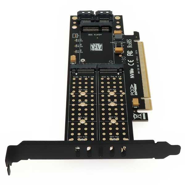 قیمت خرید كارت تبديل اس اس دی M.2 NVMe و M.2 NGFF و mSATA به PCIe
