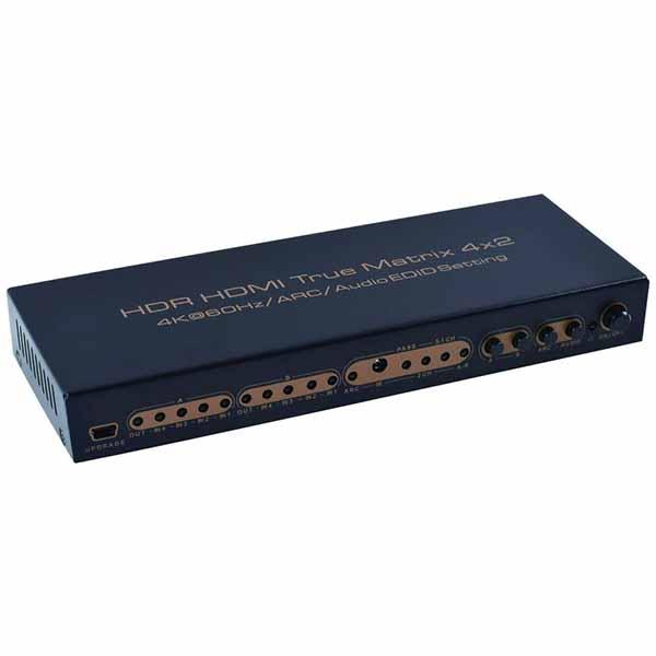 قیمت خرید ماتریکس سوئیچ 4 در 2 HDMI ام بی مدل 4K@60Hz