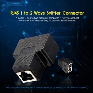 قیمت خرید تبدیل 1 به 2 شبکه rj45 (برل 2 پورت شبکه) لمونتک