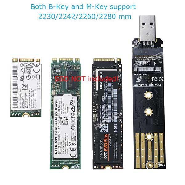 قیمت خرید قاب تبدیل اس اس دی M2 به USB 3.1