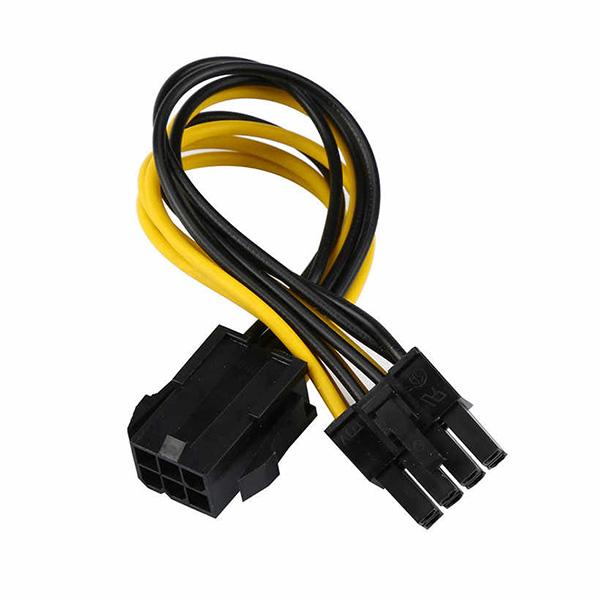 قیمت خرید کابل تبدیل برق 6 پین به 8 پین PCI-e گرافیک