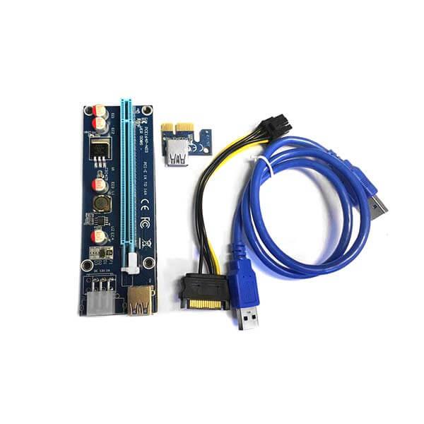 قیمت خرید رایزر کارت گرافیک تبدیل PCI EXPRESS 1X به 16Xمدل 008S
