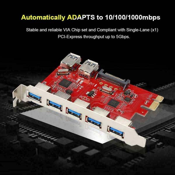 قیمت خرید کارت تبدیل PCI-e به USB 3.0