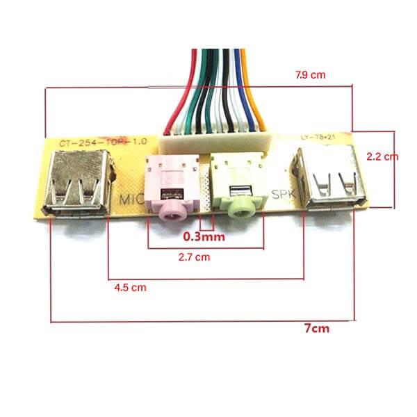 پنل صدا جلو کیس (USB + پورت میکروفون و هدفون)